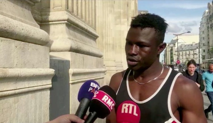 Malian boy2 750x435 - Migrant granted French Citizenship for brave attempt to rescue child