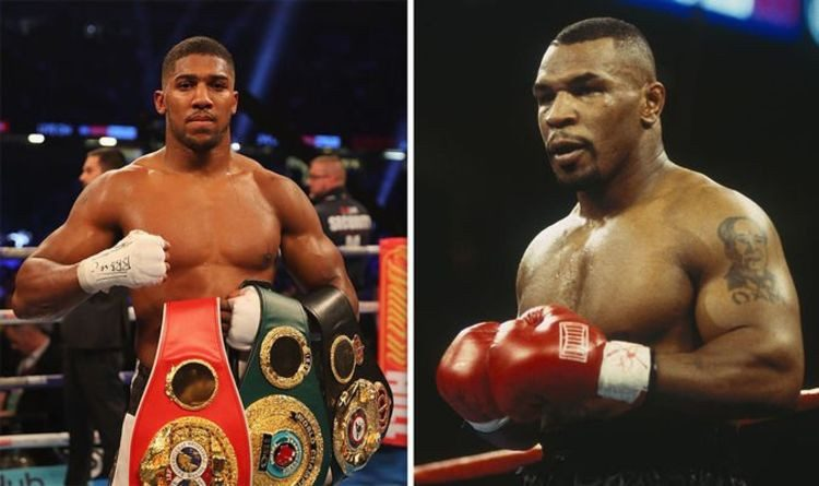 joshua and tyson 750x445 - Anthony Joshua reacts to Mike Tyson's expected heavyweight boxing return