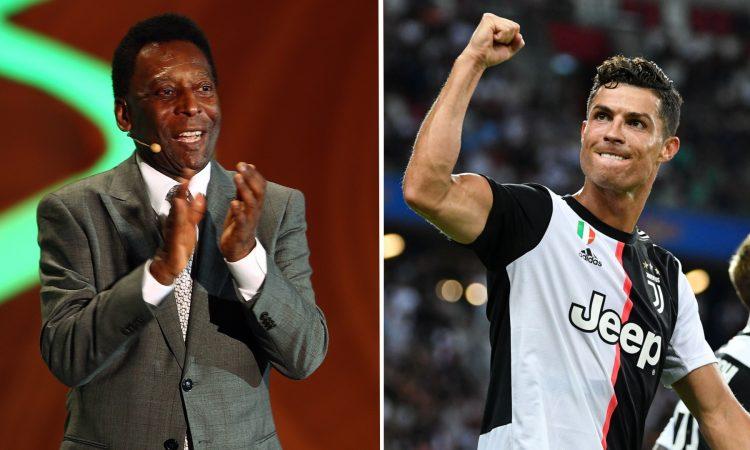 pele ronaldo 750x450 - Gary Neville: Cristiano Ronaldo plans to overtake Pele's goal scoring record and become G.O.A.T